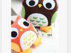 特可爱韩国猫头鹰午休毯汽车办公室午睡空调毯靠垫抱枕毯子两用