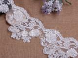精美网纱花边 高品质婚纱装饰立体绣花珍珠领 优质纯手工钉珠花边