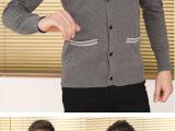 2013毛衣男薄款韩版潮流秋冬装男装V领线衫男式针织开衫修身外套