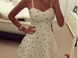 2015速卖通EBAY亚马逊外贸最新爆款欧美波点吊带性感连衣裙