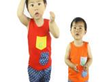 童装 男童2014夏装新款纯棉短袖背心套装中小童男童休闲背心套装