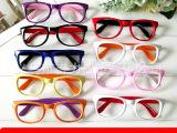 新韩国风*网络热卖*双色时尚冰冰款儿童框架眼镜 九色特批