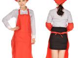 上海定制纯色围裙 制服呢简约围腰定做 可绣印公司logo