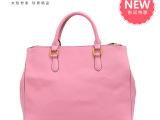 粉红色系女包欧美风格十字纹时尚手提包淑女单肩包手提包斜挎包包