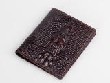 2014新款 男士高档真皮钱包短款两折横款皮夹手工鳄鱼头钱夹