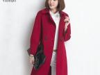 秋冬新品女式高端双排扣手工双面毛呢大衣 女士风衣欧美外套女装