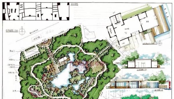 东南大学风景园林快题考研手绘培训