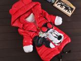 外贸童装新品潮款女童棉衣淘宝热销羽绒服卡通米奇儿童羽绒棉袄