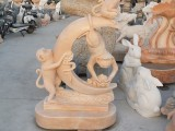 曲阳县石雕十二生肖猴子园林户外摆件厂家制作