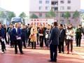 昆明市教育局局长刘绍安率队到云南衡水实验中学参观