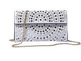 小包包2014欧美时尚高档镂空纯色斜跨链条女包晚宴会手包一件代发