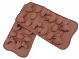 硅胶蛋糕模 14连家禽兔子鸭子蛋硅胶巧克力模