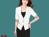 新款哥弟正品女士西装 阿玛施女装修身小西装 白领职业装 五分袖