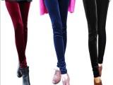 2014夏季女装新款 打底裤 韩国高弹修身显瘦金丝绒九分裤