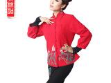 木棉道秋冬女装新款创意手绘民族风改良中式短款唐装外单衣19036