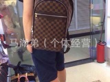 2014年最新爆款男包/双肩包 时尚格子帆布58024原版品质