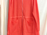 15春装女新款韩版修身空调衫糖果双曲镂空 中长款开衫女式针织衫