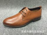 外贸原单男鞋真皮商务休闲鞋英伦尖头系带男鞋透气软底正装鞋潮鞋