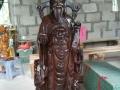 天地缘木雕佛像 家居木雕摆件 观音菩萨 财神爷公关