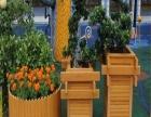 防腐木花箱花桶实木直接放土花盆移动花池花架花槽花蓝