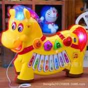 拖拉益智玩具 儿童音乐玩具 发声玩具 触摸小马故事琴 早教玩具