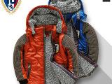 批发可混批零售 品牌童装2013冬款大童男童加绒加厚儿童棉袄棉衣