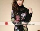 石河子原单出口高档中国传统刺绣大衣批发