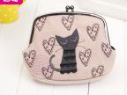 2014厂家直销时尚女包 日韩呢绒卡通便携手拿包/架口化妆包贝壳包