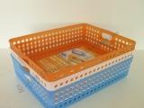 开口式 桌面A4文件收纳篮 塑料杂物收纳筐