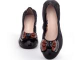 低跟品牌女单鞋 欧美百搭淑女真皮鞋 头层牛皮舒适粗跟浅口女鞋
