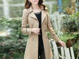 2014春秋季新款女装开衫外套韩版修身显瘦中长款大码休闲风衣外套