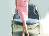 2015夏季女装新款包臀半身裙韩版纯色中长开叉半裙OL裙子批发