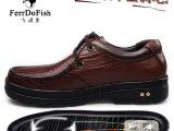 广东鹤山厂家直供 男士商务休闲透气功能皮鞋正品 男鞋正品皮鞋