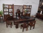 老船木茶桌椅组合实木家具中式功夫泡茶台阳台休闲茶几厂家直销