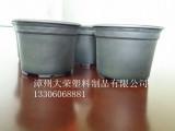 漳州大荣塑料制品供应双色花盆黑色花盆 塑料花盆 一次性塑料餐具