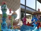 济南墙体彩绘 专业商场高档会所油画 壁画 3D画