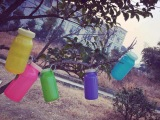 Bubi硅胶水壶户外水杯塑料带盖防漏杯运动水瓶创意便携超轻折叠