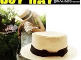 夏季女士帽子批发 呛口小辣椒 英伦草编蝴蝶结小礼帽时尚草帽