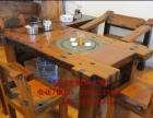 河池实木家具办公桌茶桌椅子老船木客厅家具沙发茶几茶台餐桌案台