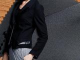长期现货 高档西装面料 小西装女 弹力涤纶 套装西裤面料 裙面料
