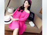 2014夏季新款韩版孕妇连衣裙中袖连衣裙