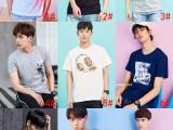 10块男装夏季新款男式t恤 韩版纯棉大码男士t恤 外贸货源