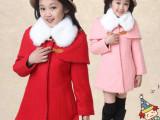 2014冬季新款童装女童韩版呢子外套中长款时尚儿童百搭上衣潮DW
