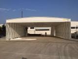 厂家定制推拉雨棚活动雨蓬户外遮阳棚钢架雨蓬移动仓库棚工地帐篷