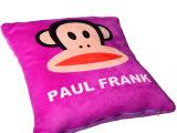 康瑞茗枕卡通大嘴猴抱枕床上用品礼品节日汽车颈椎保健枕芯枕套