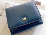 金属皇冠三折时尚 品牌钱包 pu包 新款钱包 女包一件代发免费代