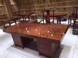 温州哪有卖实木大板茶桌黑檀木茶台家具巴花大板奥坎胡桃木