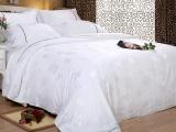 2015厂家直销 宾馆酒店床上用品布草 加厚纯棉缎条高档四件套