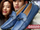 2014新款男鞋真皮休闲鞋透气潮鞋秋季豆豆鞋男韩版懒人鞋