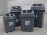 厂家直销40l垃圾桶时尚创意翻盖摇盖垃圾桶 家用垃圾筒